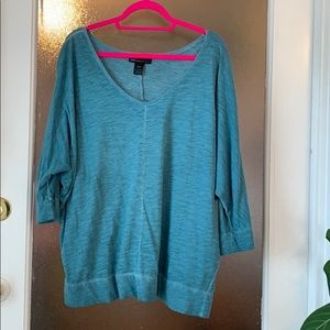 Teal knit top